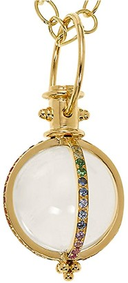 Temple St. Clair Celestial Rock Crystal, Multicolor Sapphire, Diamond & 18K Yellow Gold Classic Amulet