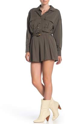 Dress Forum Utility Button Front Belted Romper