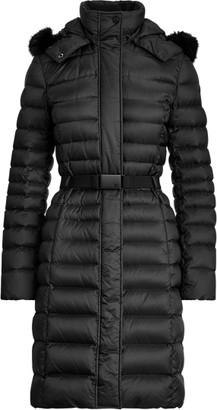 Ralph Lauren Demi Faux Fur-Trim Down Coat