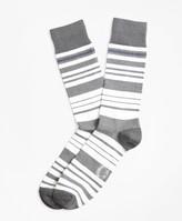 Brooks Brothers Variegated Stripe Crew Socks