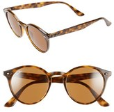 Ray-Ban Men's 49Mm Round Sunglasses - Havana/ Brown