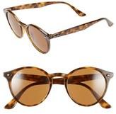 Ray-Ban Men's 49Mm Round Sunglasses - Havana/ Brown