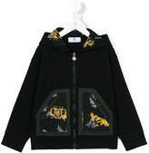 Young Versace - zipped hoodie - kids - Cotton/Spandex/Elastane - 4 yrs