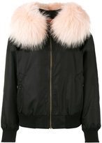 Mr & Mrs Italy raccoon fur trimmed bomber jacket