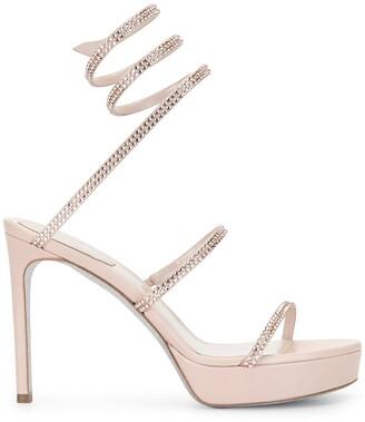 Rene Caovilla Crystal-Embellished Platform Sandals