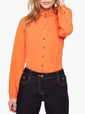 Damsel in a Dress Marlena Trench Shirt, Orange
