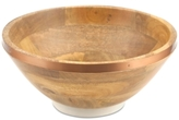 Thirstystone Wood Salad Bowl with Copper Finish Band