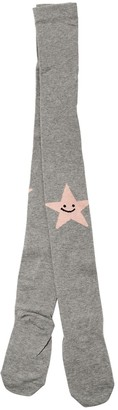 Stella Mccartney Kids Star Intarsia Cotton Blend Tights