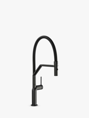 Abode Tubist Professional Pull-Around Spray Single Lever Kitchen Mixer Tap, Matt Black