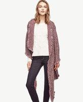 Ann Taylor Tweed Blanket Scarf