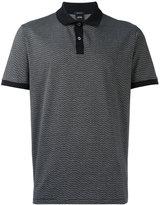 HUGO BOSS contrast collar polo shirt - men - Cotton - S
