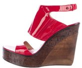 CNC Costume National Patent Leather Wedges