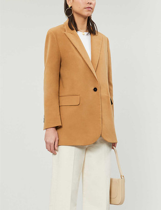 Maje Valmon cotton-velvet blazer
