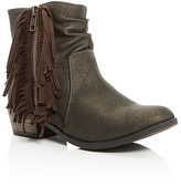 Steve Madden Girls' Jwestrn Fringe Booties - Little Kid, Big Kid