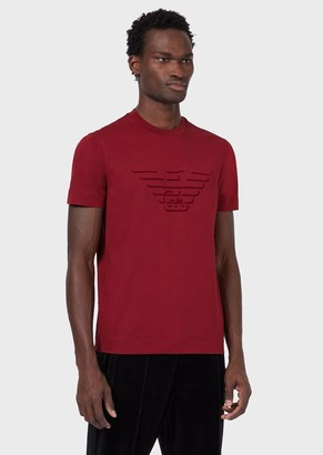 Emporio Armani Jersey T-Shirt With Logo Print