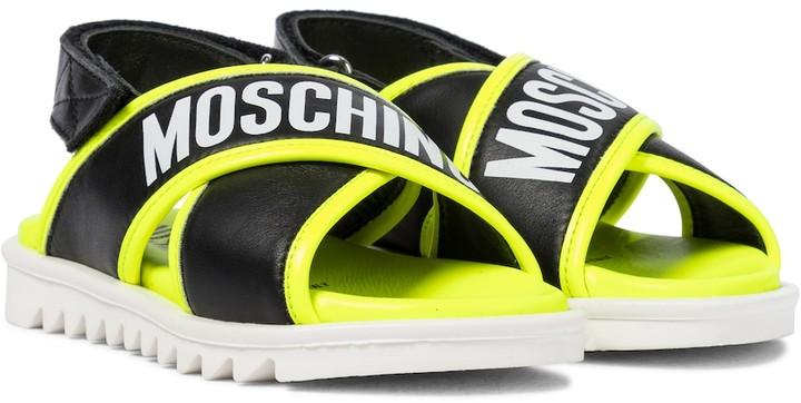 MOSCHINO BAMBINO Leather sandals