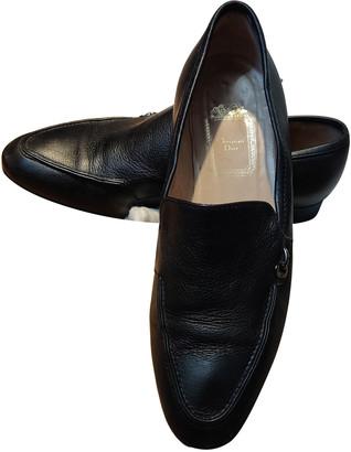 Christian Dior Black Leather Flats