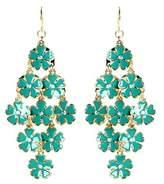 Amrita Singh Rose Garden Crystal & Enamel Chandelier Earrings.