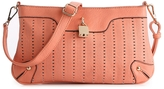Melie Bianco Perforated Cross Body Bag