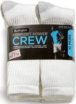 Burlington Comfort Power Mens 10 Pair Crew Socks