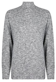 Dorothy Perkins Womens Grey Funnel Neck Batwing Jumper, Grey