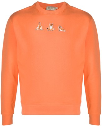 MAISON KITSUNÉ Yoga Fox-patch cotton sweatshirt