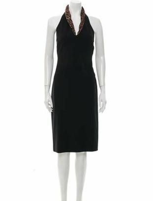 Dolce & Gabbana Halterneck Knee-Length Dress Black