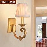 WALL LIGHTS DYUK DYBLING Vintage Bedside Lamp American Minimalist Living Room Bedroom Copper Outdoor Indoor Wall Lights Lamp