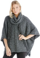 Sole Society Fringe Turtleneck Poncho