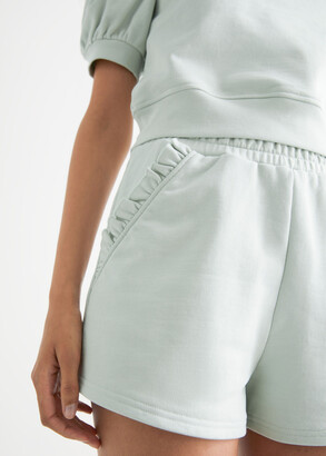 And other stories Frill Pocket Fleece Shorts