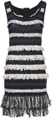 Balmain Fringed Detail Knitted Dress