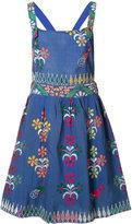 All Things Mochi - floral motif playsuit - women - Cotton - M