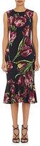Dolce & Gabbana Women's Tulip-Print Stretch-Crepe Dress-BLACK, PURPLE, NO COLOR