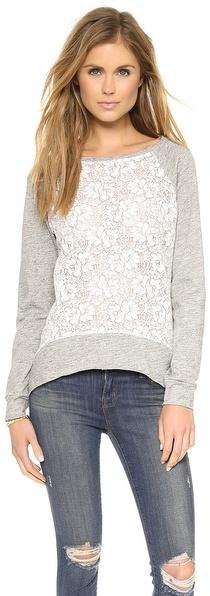 Generation Love Emma Lace Flower Sweatshirt
