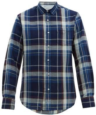Officine Generale Tartan-check Cotton-twill Shirt - Mens - Blue Multi