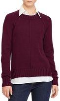 Lauren Ralph Lauren Layered Cotton-Blend Sweater