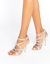 Carvela Grove Strappy Bronze Heeled Sandals