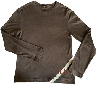 Louis Vuitton Brown Linen T-shirts