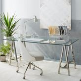 west elm Cross-Base Desk - Polished Nickel