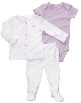 Carter's 3 Piece Footed Essentials - Polka Dots-White-6 Months