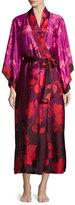 Natori Sophia Floral-Print Wrap Robe, Multi