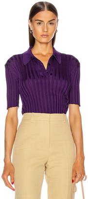 Victoria Beckham Slim Fit Polo Shirt in Purple | FWRD