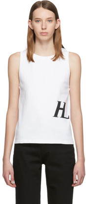 Helmut Lang White Femme Muscle Tank Top