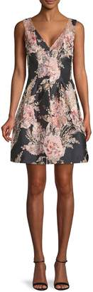 Vince Camuto Embroidered Floral-Print Mini Dress