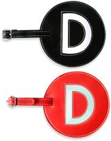 """Initial """"D"""" Luggage Tag in Black"""