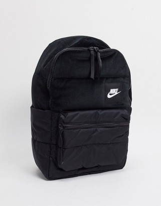 Nike velvet backpack in black