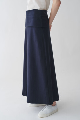 Cos Organic Cotton Waist Fold Skirt