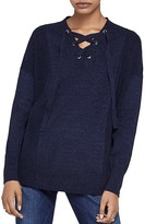 BCBGeneration Lace-Up Sweater