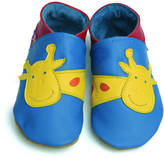 Starchild shoes Boys Soft Leather Baby Shoes George Giraffe Blue