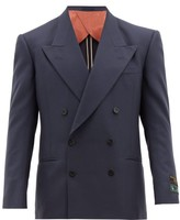 Gucci Double-breasted Peak-lapel Jacket - Mens - Navy